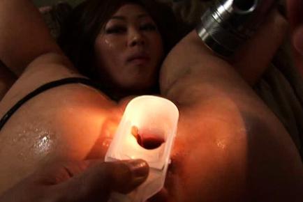 Sugary mature hottie Yamato gets her anal hole hammered hard