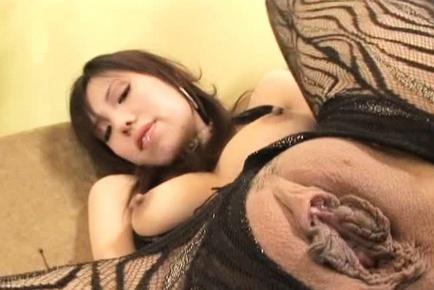 Hot milf in weird lingerie Mei Amazaki enjoys tough anal intrusion