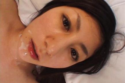 Hottie in fishnet stockings Mariko Shiraishi enjoys toys in anal