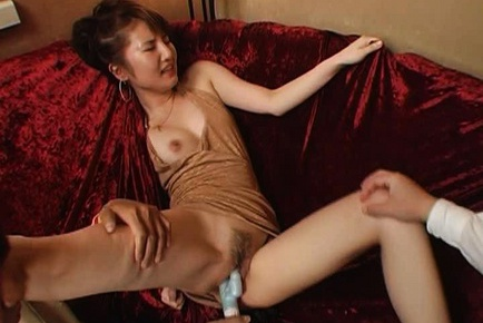 Asian milf with cute tits Miku Tanaka in Japanese anal action