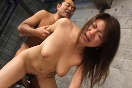 Busty girl in sexy lingerie Megu Hayasaka likes hard anal penetration