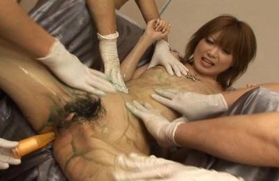 Kinky Asian tramp Rika Sakurai gets nasty teasing on Asian anal porn