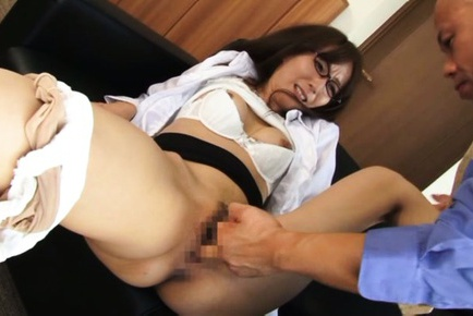 Fancy Japanese girl Shiho deepthroats cock and gets her anal banged