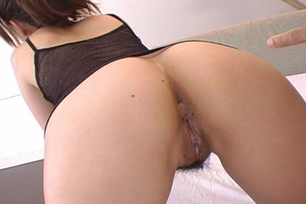 Lascivious Asian cutie Yui Kazuki shows off thight anal gets it banged