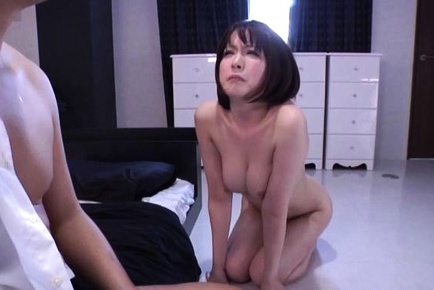Ryo Tsujimoto naughty Asian babe gives blowjob and gets anal play
