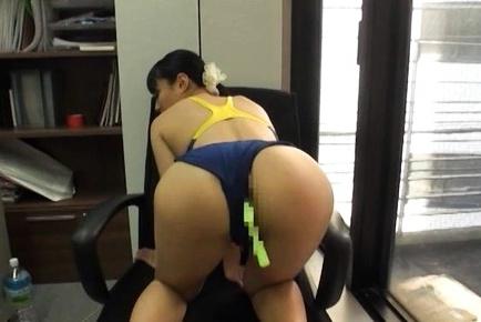 Kokona Sakurai gets toys in both holes